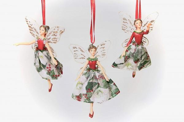 Gisela Graham, Zauberelfe Christmas Rose & Holly Fairy , im 3er Set