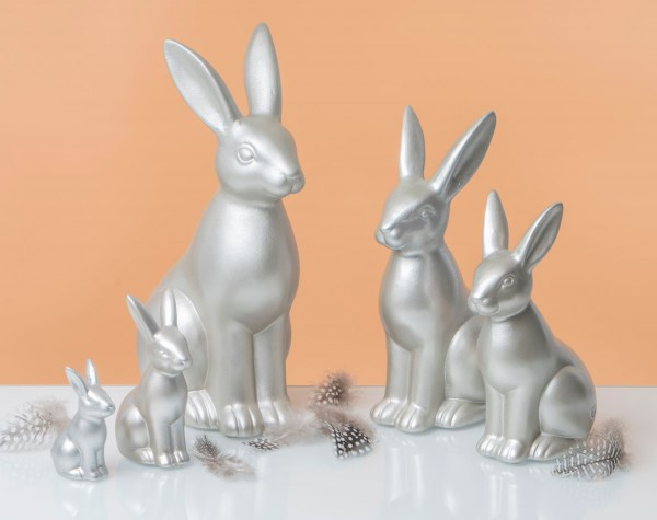 Fabriano - Hase Maurizio 30cm champager/silber-