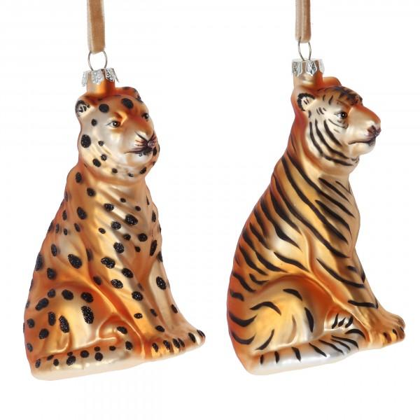 Gisela Graham - Anhänger, Tiger und Gepard - 2er Set