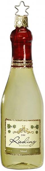 Inge-Glas Anhänger Weinflasche Riesling, 13cm
