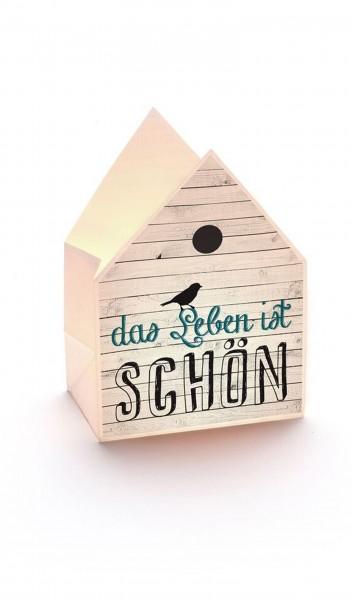 """Haus-Licht-Tüte """"Das Leben Ist Schön"""""""