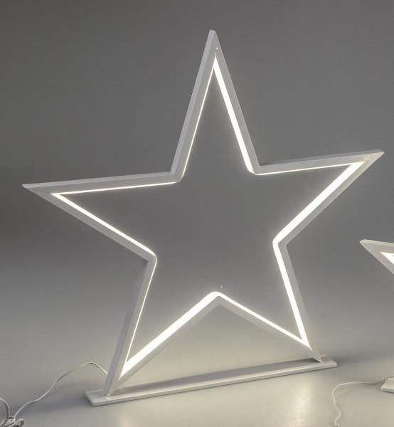 Formano LED Stern stehend weiß H. 32cm aus Metall, SALE
