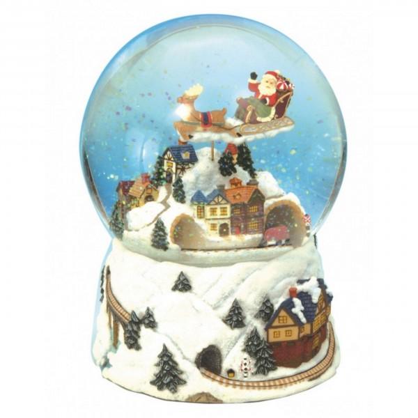 Spieluhr - Schneekugel Weihnachtszug mit Jingle Bells