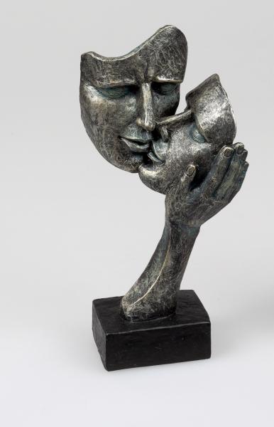 Formano - Skulptur - Deko-Büste Paar, 30 cm, Liebe-Kuss, 716026