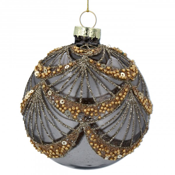Gisela Graham - Weihnachtskugel/Ball - Smoked Perle