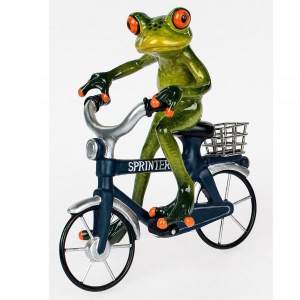 Frosch-Mann auf Sprinter - Fahrrad