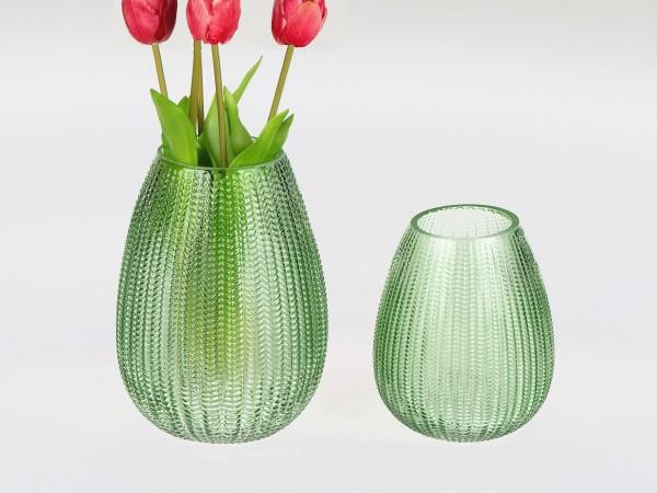 Formano Vase (Green Leaves, 13x16 cm)
