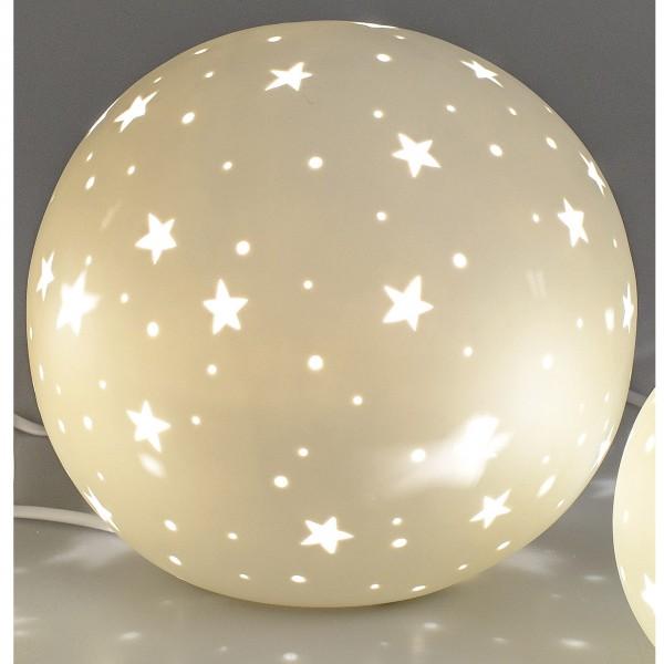 Formano Kugel-Lampe Sterne Porzellan - 16cm