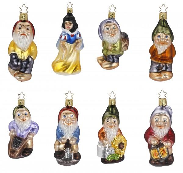Inge-Glas Anhänger - Schneewittchen und die 7 Zwerge, Christbaumanhänger