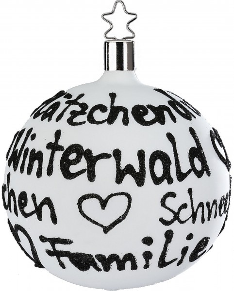 Inge-Glas Christbaumschmuck Kugel - Liebe, Plätzchenduft...