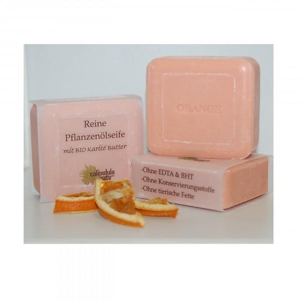 Orange, Pflanzenöl-Seife