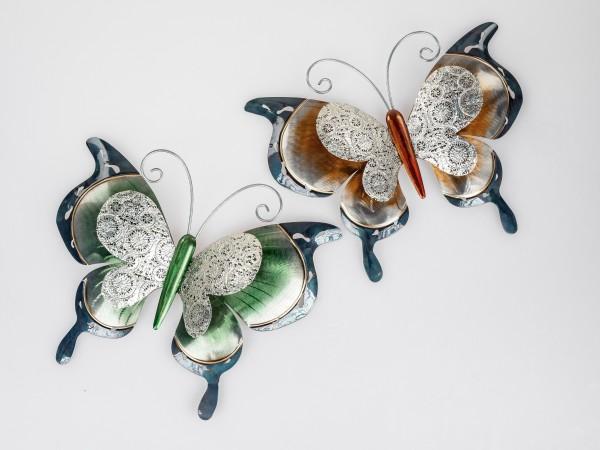 Formano - Wanddeko Schmetterling, Metall, 38cm