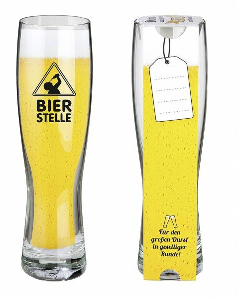 """Gilde Weizenbierglas - """"Bierstelle"""" 500ml"""