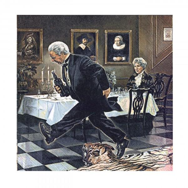 Ihr-Serviette, Dinner for One - Der 90. Geburtstag / Miss Sophie und James