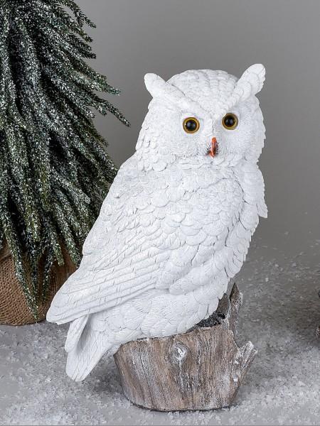 Formano - Eulen-Figur - Owls - Schneeeule, 32cm