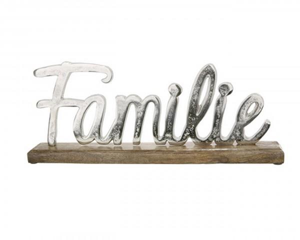 "Gilde Schriftzug ""Familie"" auf Holz-Base"