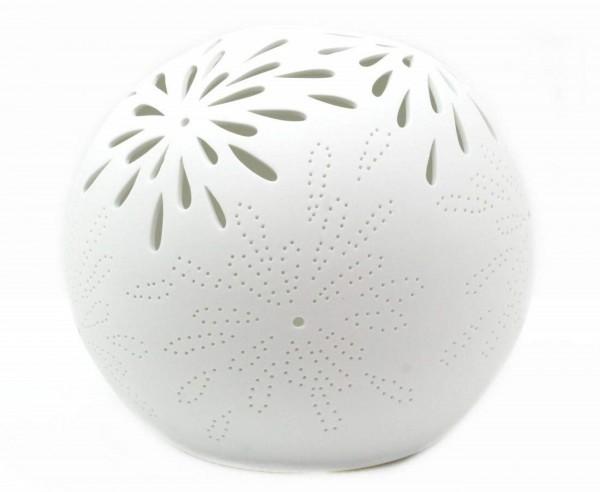 Formano Kugel-Lampe Aurea-Blume Porzellan