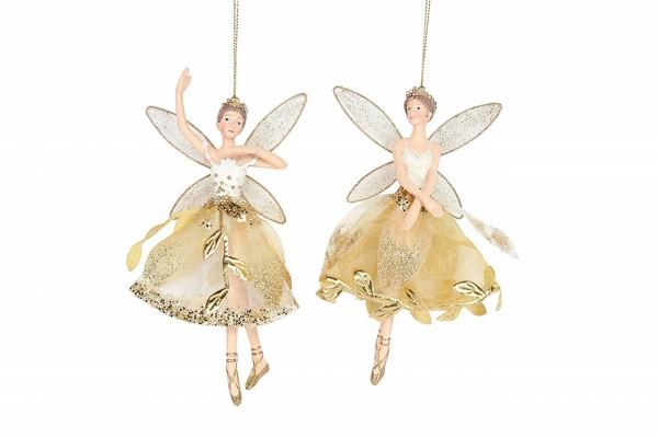 Gisela Graham, Goldelfe mit goldener Blumenranke, im 2er Set