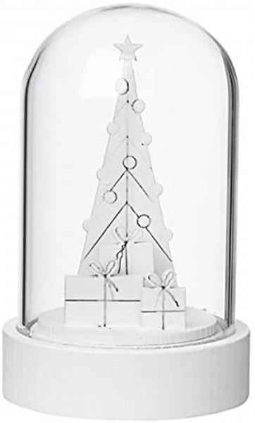 Weihnachtszauber Cloche LED Baum