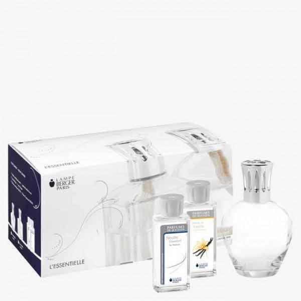Lampe Berger Set - Essentielle rund 180ml Neutrale Essenz 180ml Duft