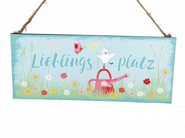 """Formano - Gartenschild - Metallschild - """"Lieblingsplatz"""""""