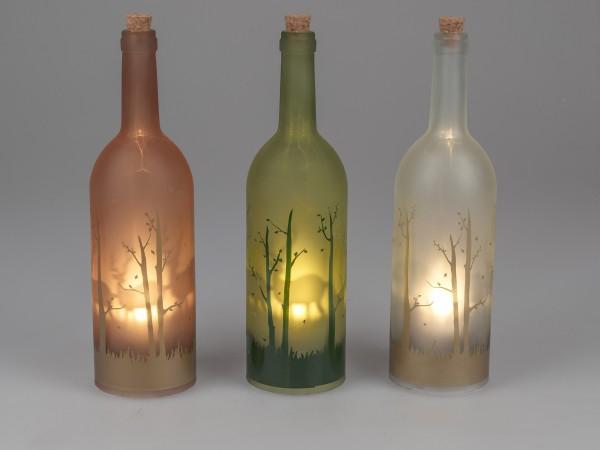 Formano LED-Flasche Winterzeit und Timer Funktion, ca. 34 cm