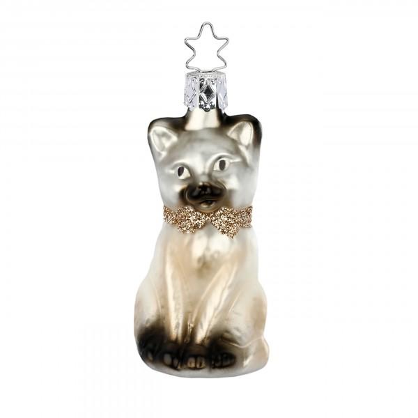 Inge-Glas Anhänger Kätzchen - Christbaumschmuck 9cm