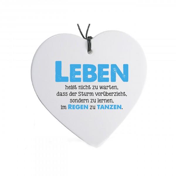 Formano Keramik Herz - Sag's mit Herz...Leben..., 2.Wahl