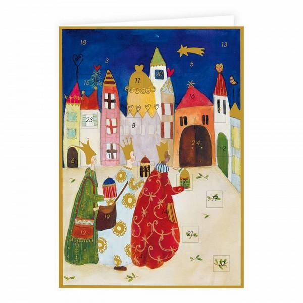 Adventskalender Karte, Bethlehem