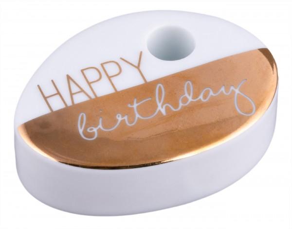 """Räder Herzstücke Wunschkerze """"Happy Birthday"""""""