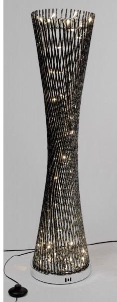 Formano LED Aluminium - Stehlampe eckig gedreht; anthrazit mit LED Licht
