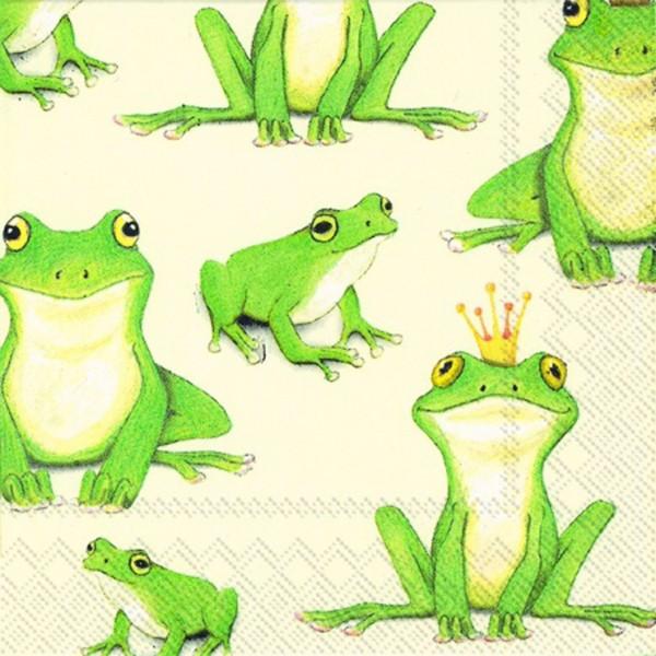 Ihr-Cocktail-Serviette - Frosch Prinz Ferdinand