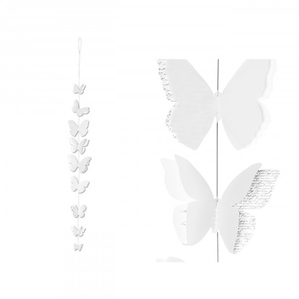 Räder - Papierkette Schmetterling, 120cm