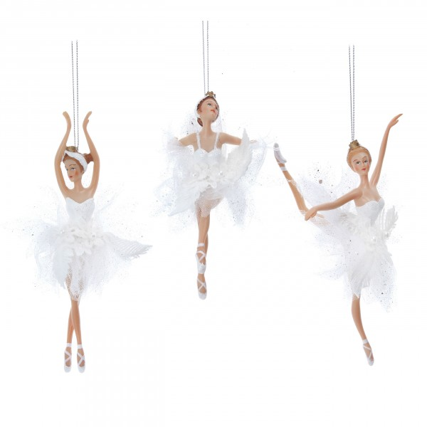 Gisela Graham, Schnee Ballerina mit Tüll-Kleid - 1 Stück