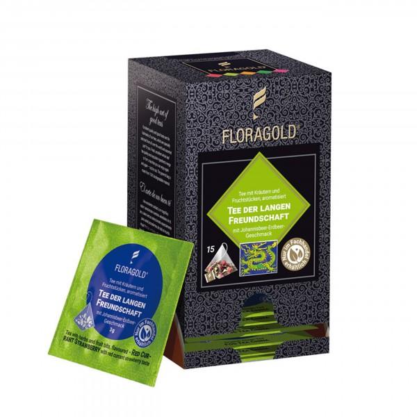 Floragold  - Weißer Tee - Tee der langen Freundschaft,  im Pyramidenbeutel, 15 Stück