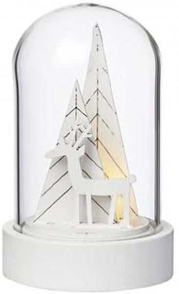 Weihnachtszauber Cloche LED Hirsch