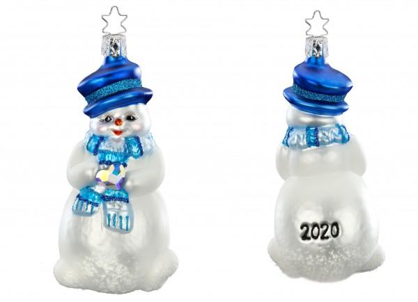 Inge-Glas Anhänger Beherzter Winterfreund - Jahresornament 2020