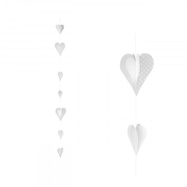 Räder - Herzstücke, Herzkette - Weiße Herzen