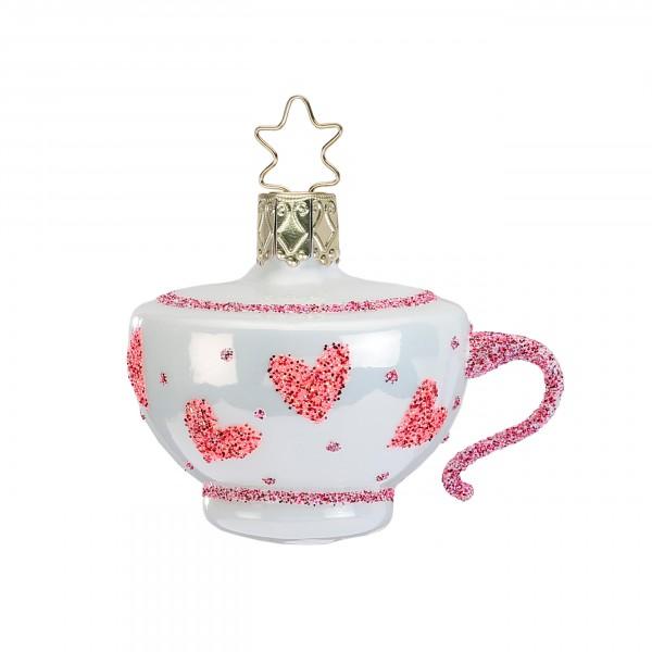 Inge-Glas Anhänger Verrückte Teetasse 7cm - Christbaumanhänger