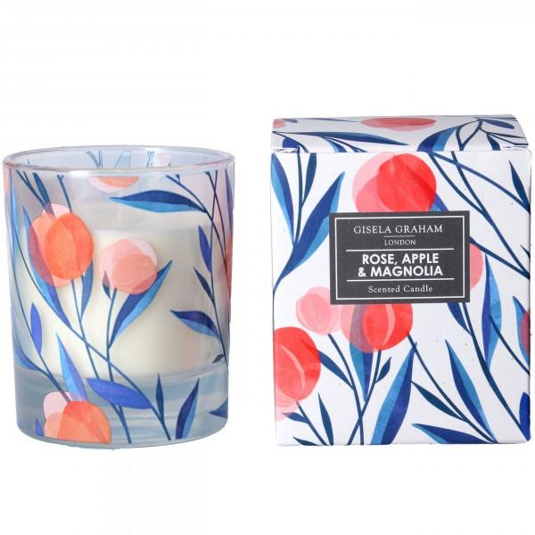 """Gisela Graham - Duftkerze """"Rose, Apple & Magnolia"""" - im Rosen Design"""