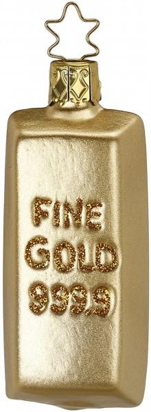 Inge-Glas Anhänger - Goldbarren