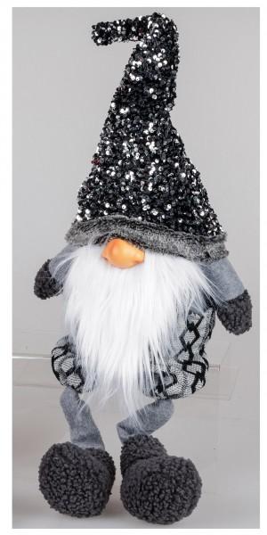Formano - Türstopper Wichtel mit Glitter Mütze grau, 60cm (1Stück)