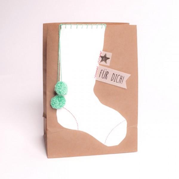 """Good old Friends - Winter PomPom Tüte """"Socke"""""""