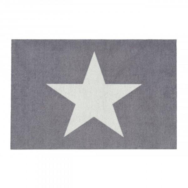 Fussmatte - Gift Company, Stern, grau/weiß