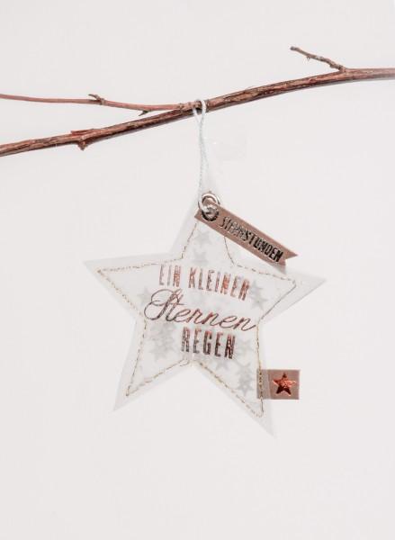 """Good old friends - Winter Glitzer Ornament - Stern """"Sternstunden"""""""