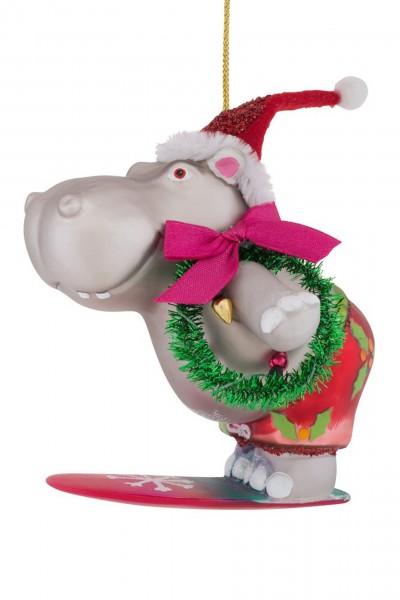 Gift Company - Hänger Hippo - mit Kranz