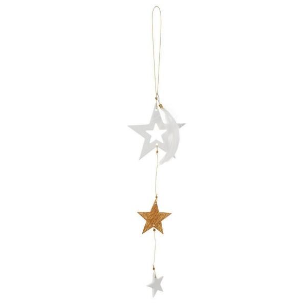 """Räder - Weihnachtszauber Goldstern Ornament """"Weißer Stern"""