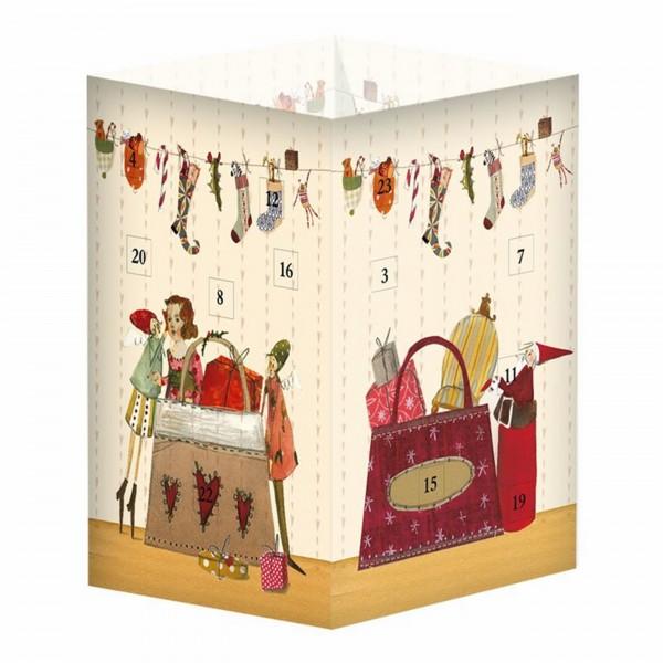 Adventskalender-Leuchte, Weihnachtseinkauf