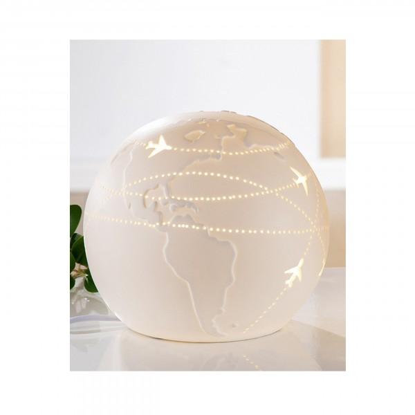 Gilde, Kugel Lampe - Weiss Weltenbummler