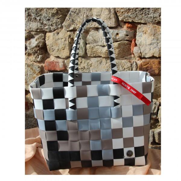 Witzgall - Ice Bag - Einkaufsshopper, weiß braun schwarz mix